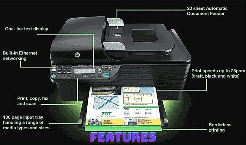 HP Officejet 4500 Printer features