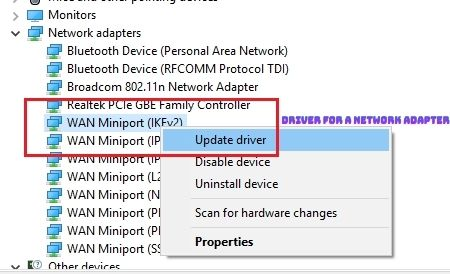 driver for a Network Adapter